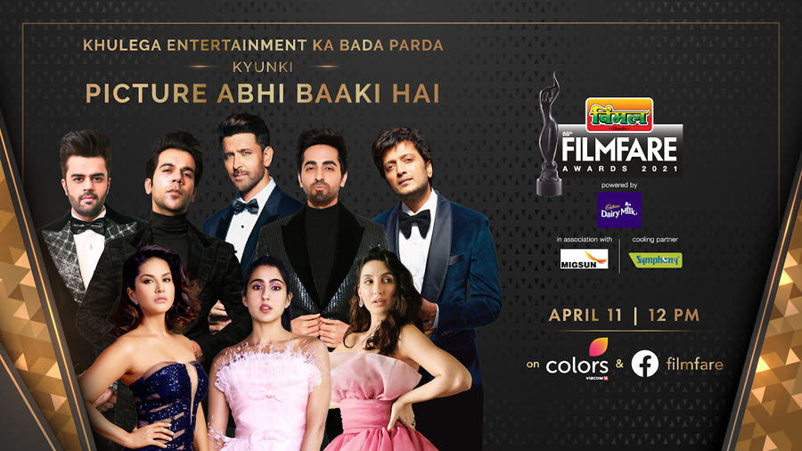 CATCH ALL THE ACTION FROM THE 66TH VIMAL ELAICHI FILMFARE AWARDS 2021 ON FACEBOOK AND INSTAGRAM