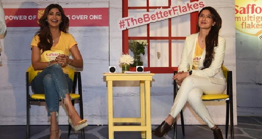 Shilpa Shetty Kundra and Pooja Makhija launch Saffola's healthier breakfast cereal – 'Saffola Multig