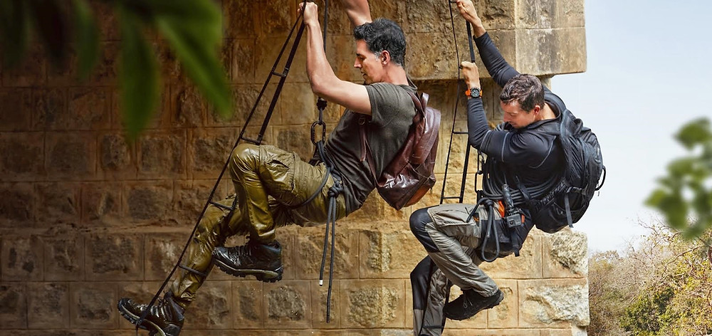SUPERSTAR KHILADI AKSHAY KUMAR AND ADVENTURER BEAR GRYLLS SET OUT ON A CLASSIC MILITARY-STYLE MISSION IN THE LATEST EPISODE OF 'INTO THE WILD'
