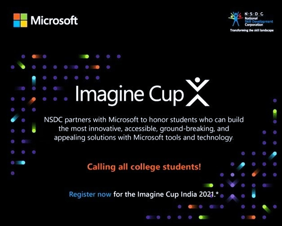 MICROSOFT AND NSDC JOIN HANDS FOR THE IMAGINE CUP 2021 IN BHARAT