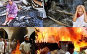 TORCH 20 HINDUS HOMES WITH PROTESTS OVER DURGA PUJA IN BANGLADESH