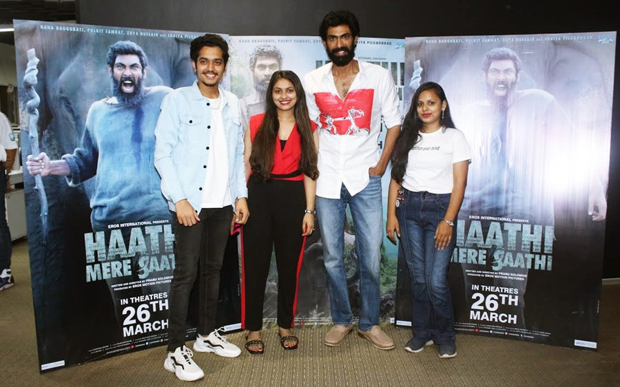 MAD OVER DONUTS WINNER MEET AND GREET WITH RANA DAGGUBATI FOR HAATHI MERE SAATHI PROMOTIONS