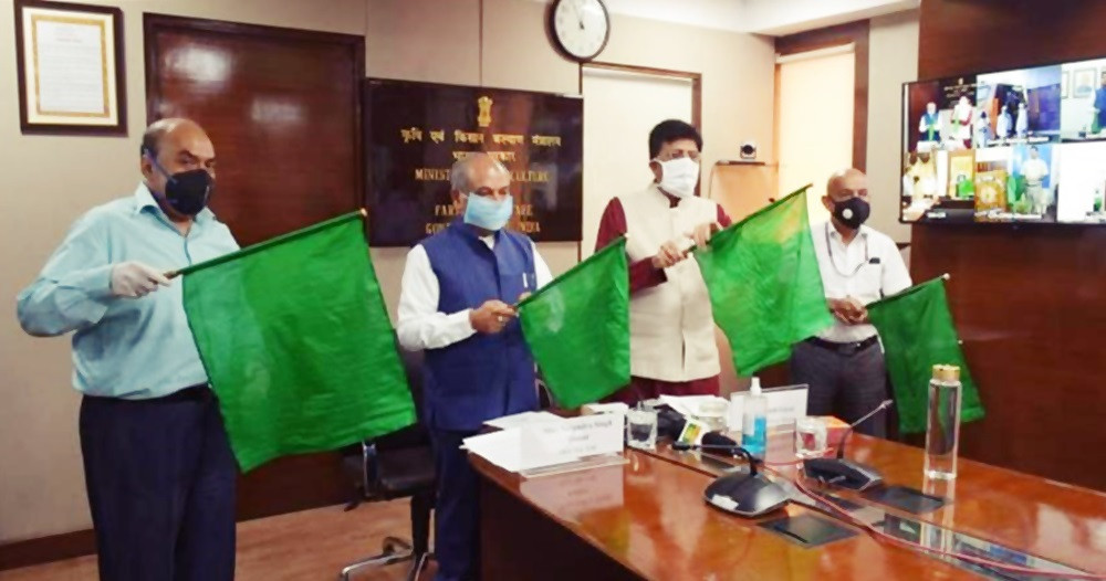 India's First Kisan Rail Flagged Off By Shri Narendra Singh Tomar, Minister Of Agriculture And Presided Over By Shri Piyush Goyal, Minister Of Railways, Government Of India