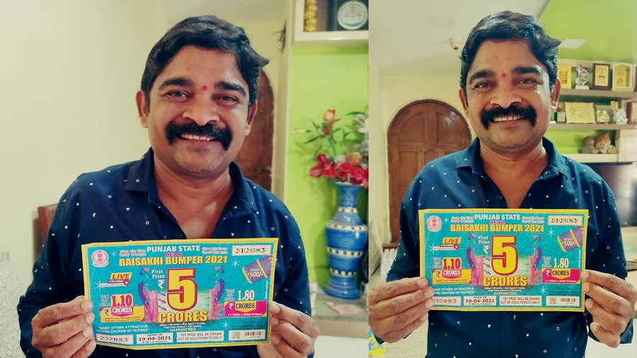 HUMBLE BUSINESS OWNER FROM THANE DISTRICT WINS DEAR LOTTERIES CASH PRIZE OF 5 CRORE RUPEES