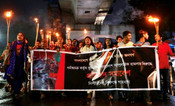 HUNDREDS OF HINDUS PROTEST AGAINST RELIGIOUS VIOLENCE IN BANGLADESH