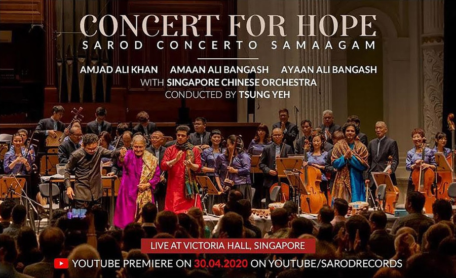 CONCERT FOR HOPE – SAROD CONCERTO SAMAAGAM' DIGITAL PREMIERE ON SAROD RECORDS