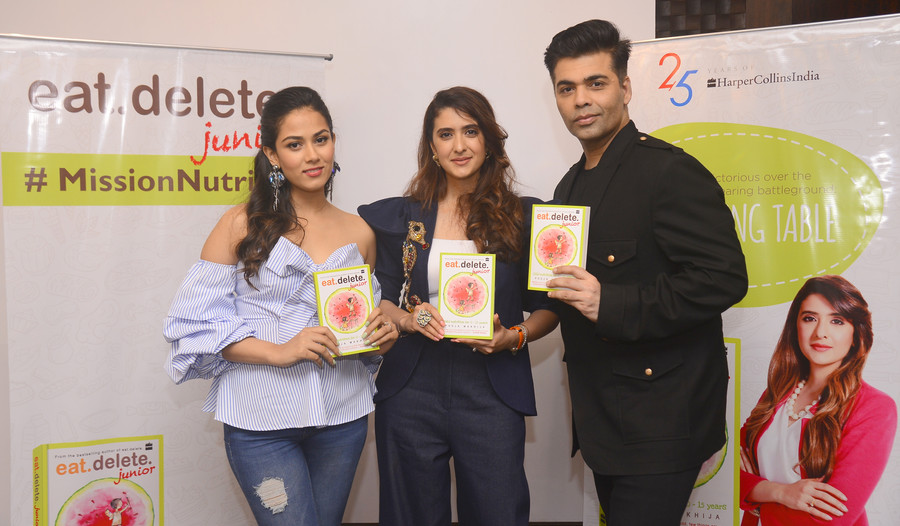 Karan Johar & Mira Rajput Kapoor Unveil Celebrity Nutritionist Pooja Makhija's 2nd Book 'Eat. De