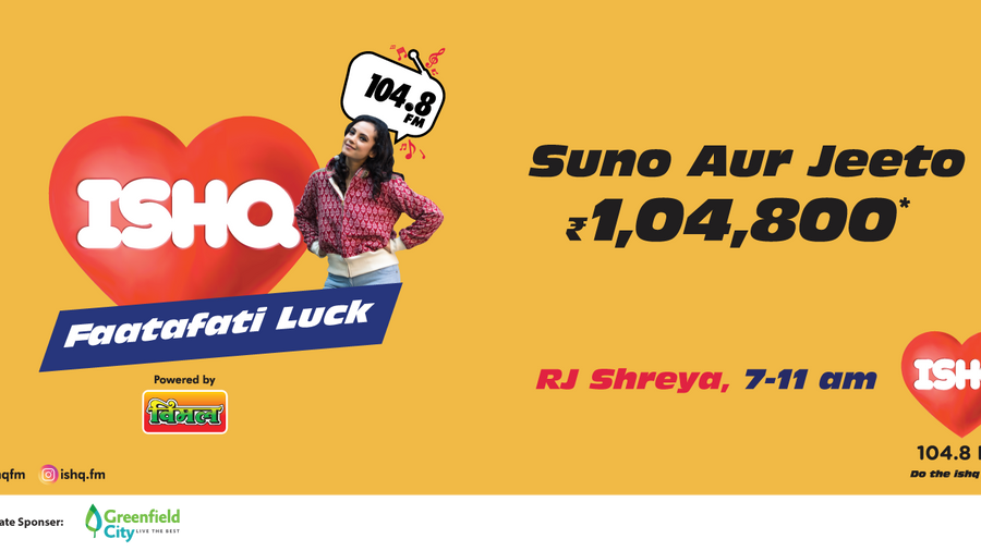 104.8 ISHQ FM LAUNCHES 'ISHQ FAATAFATI LUCK' CAMPAIGN IN THE CITY OF JOY