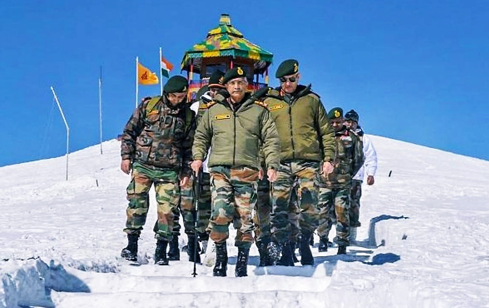 ARMY CHIEF NARAVANE BEGINS TWO-DAY LADAKH VISIT