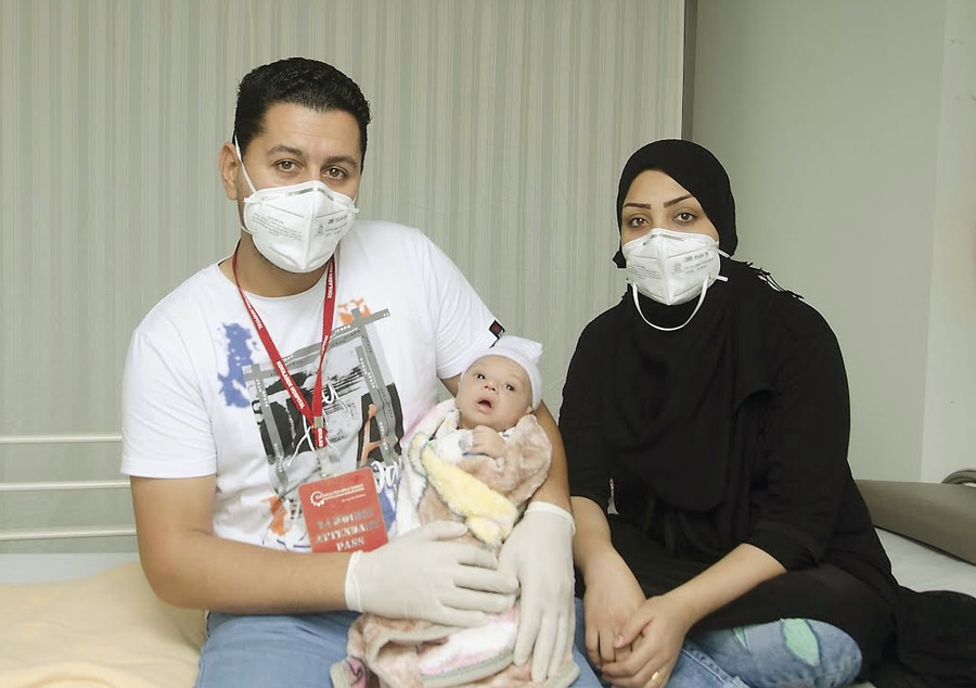 BLUE BABY FROM IRAQ OVERCOMES DISTANCE AND COVID CHALLENGE TO FIND TREATMENT IN MUMBAI