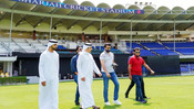 BCCI CHIEF SOURAV GANGULY VISITS SHARJAH CRICKET STADIUM