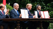 ISRAEL SIGNED HISTORIC DIPLOMATIC PACTS WITH TWO GULF ARAB STATES AT A WHITE HOUSE CEREMONY