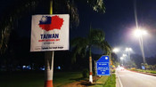 109TH TAIWAN NATIONAL DAY POSTERS COME UP NEAR CHINESE EMBASSY IN NEW DELHI