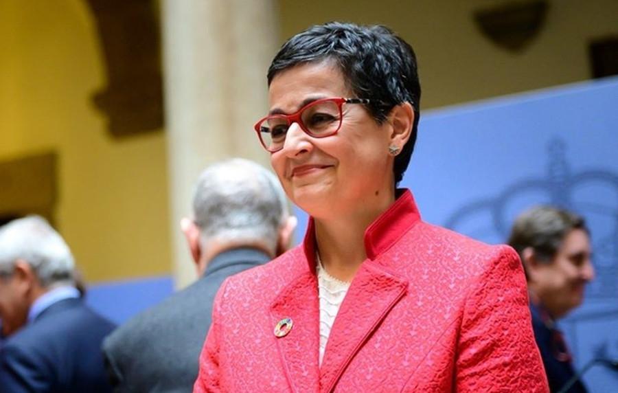 SPANISH MINISTER ARANCHA GONZALEZ LAYA VISITS TUNISIA