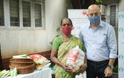 ANUPAM KHER THROUGH HIS FOUNDATION DISTRIBUTED RATION TO CPAA CANCER PATIENTS
