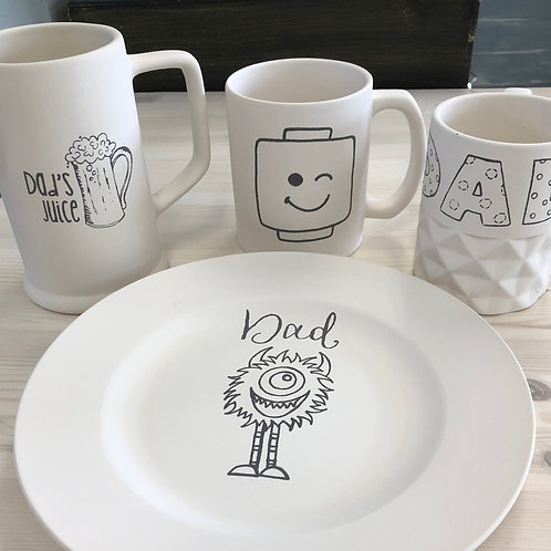 Father's Day Plate or Mug TO GO Project