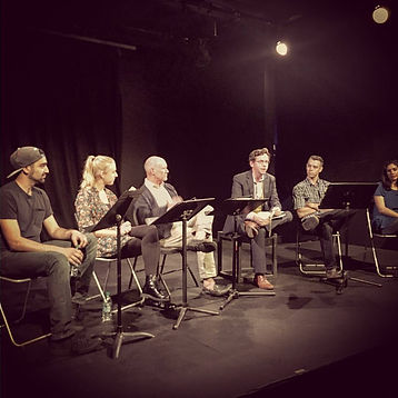 Staged reading for the play Duke with Katie Peabody, written by Brian White, Katie Peabody, staged reading, acting, performance, performer, actor, actress, Los Angeles