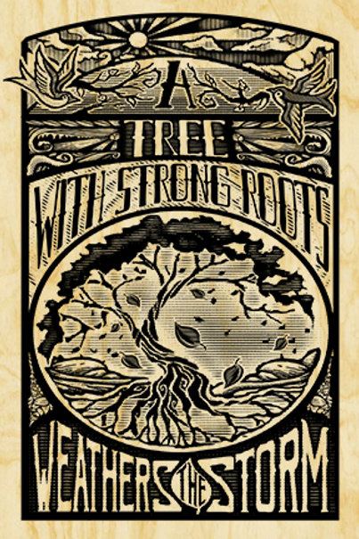 Strong Roots -Original Art On Wood