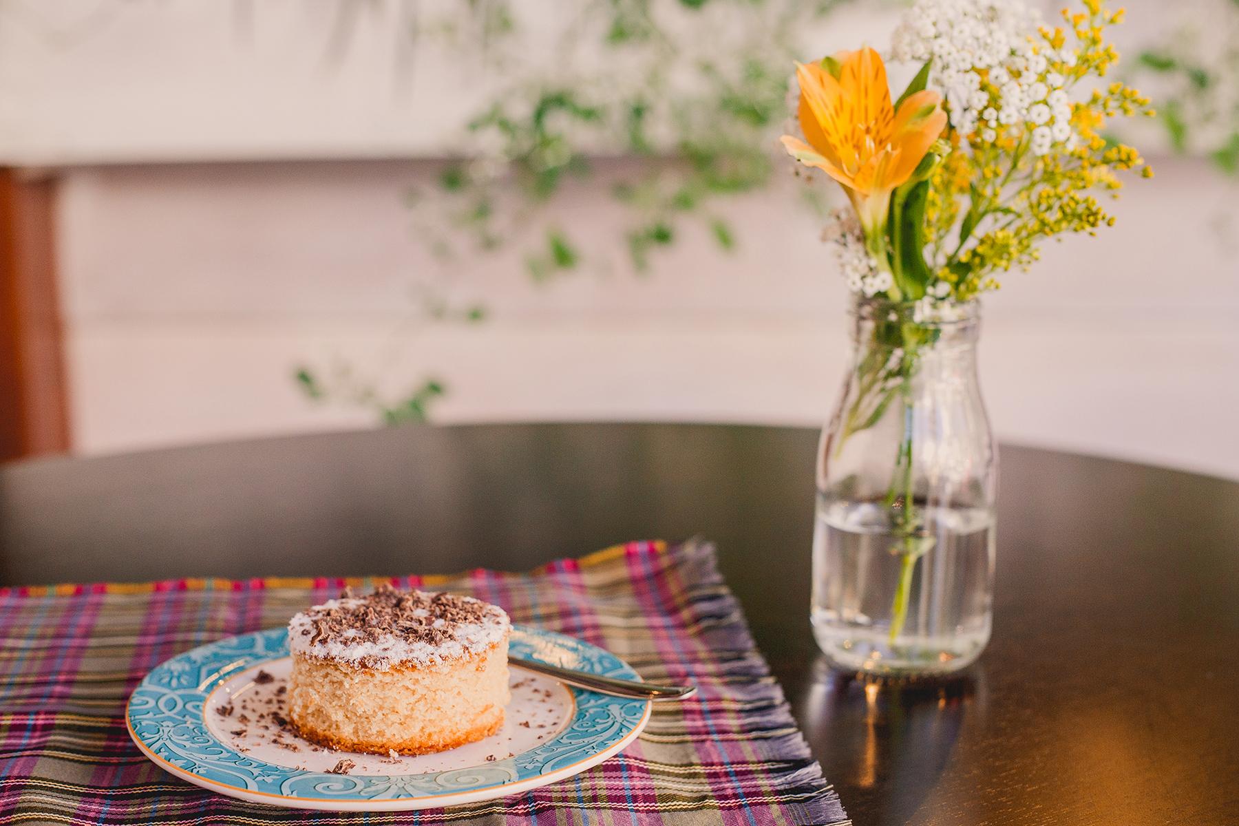 Mini cake de baunilha