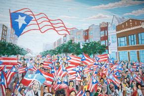 Un mural en el vecindario de Humboldt Park en Chicago en Campbell y división. | Colin Boyle
