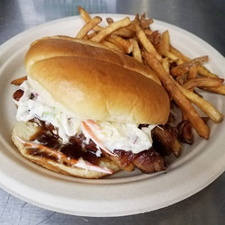 MENU CHANGE ON TUESDAY!😚 Come get your Mojo Chicken Sandwich and Pork Belly Sandwich today or Satur