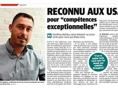 """RECONNU AUX USA pour """"compétences exceptionnelles"""""""