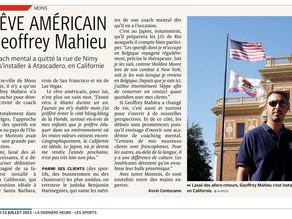 Le rêve américain de Geoffrey Mahieu
