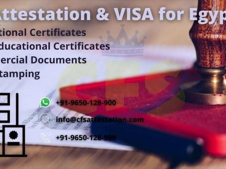 Egypt Embassy Attestation and Egypt VISA Stamping