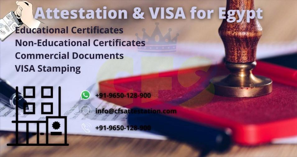 Egypt Embassy Attestation, Embassy Attestation, Attestation, Visa Stamping for Egypt