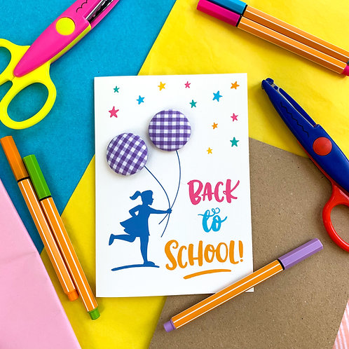 Back to School - Card with Hair Bobbles