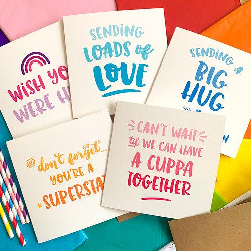 Cards of Positivity (15cm) - bundle of 5