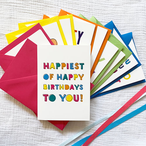 Birthday Cards Bundle of 8