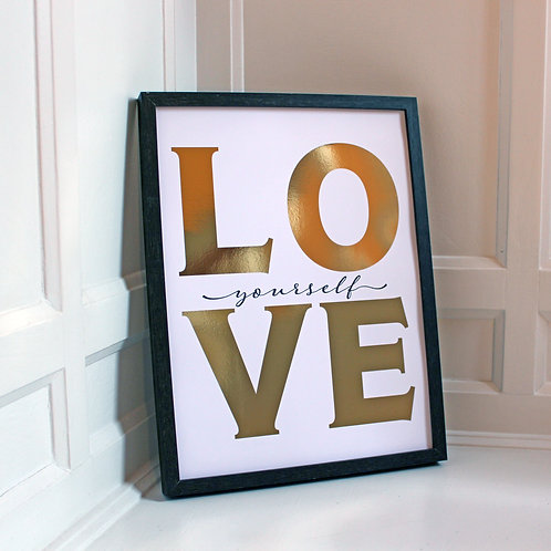 Love Yourself (gold)