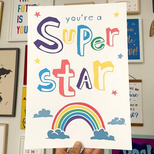 You're a Super Star A4