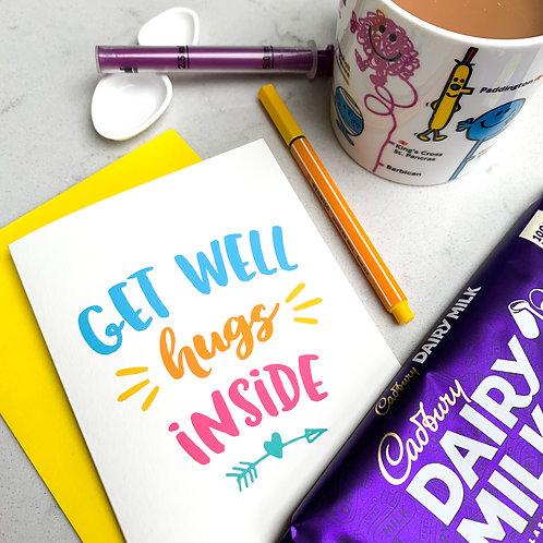 Get Well Hugs Inside Card