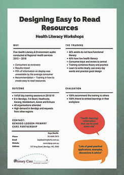 Designing easy to read resources poster_