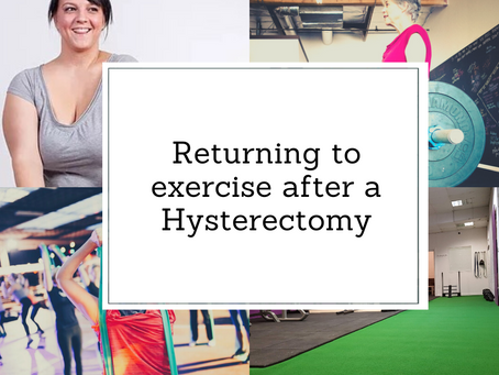 Hysterectomies & Exercise