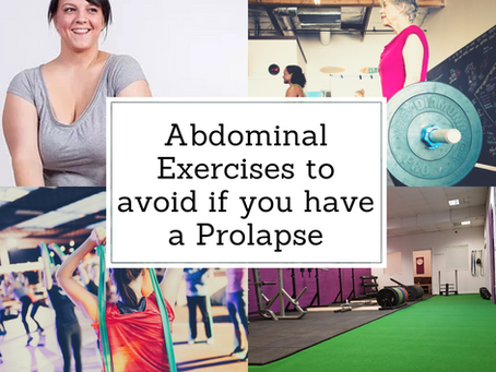 Exercising with Prolapse