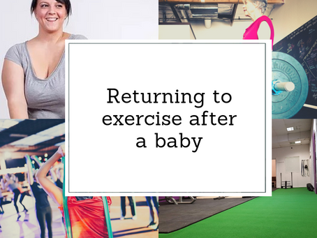 Returning to Fitness after a Baby