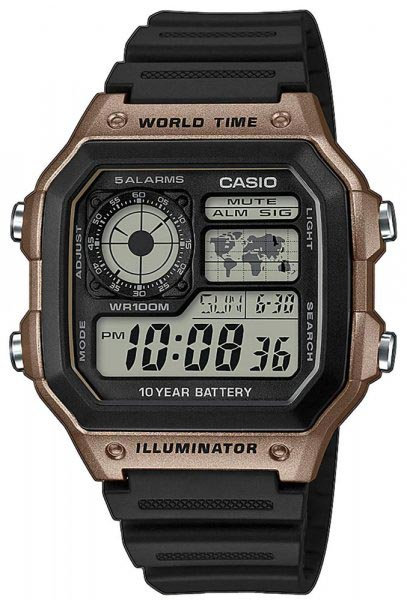Часы Наручные CASIO AE-1200WH-5A