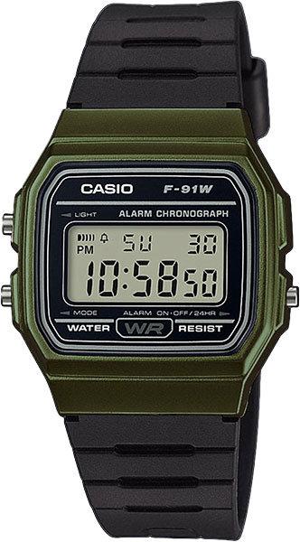 Часы Наручные CASIO F-91WM-3A
