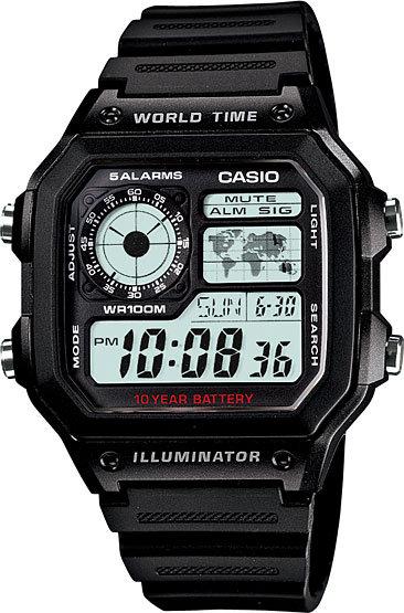 Часы Наручные CASIO AE-1200WH-1A