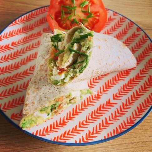 Recept wrap met avocado en feta
