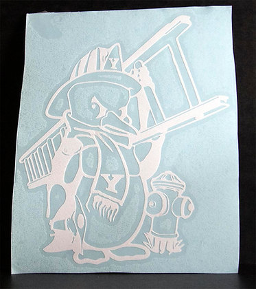 Firefighter Penguin Decal