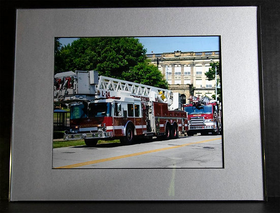 11x14 inch Framed Matted YFD Photo (Ladder 24/Engine 3)