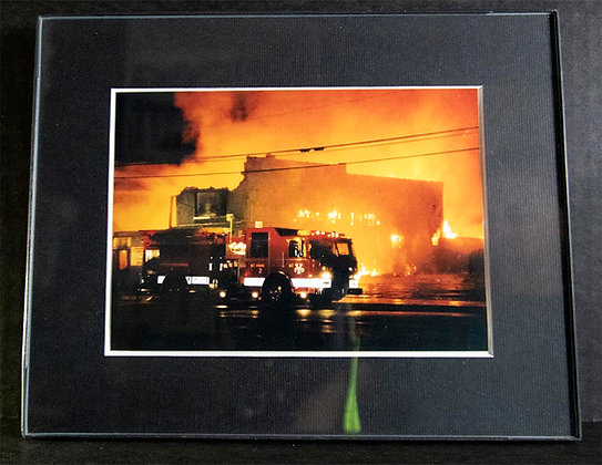 8x10 inch Framed Matted YFD Photo (Engine 2)