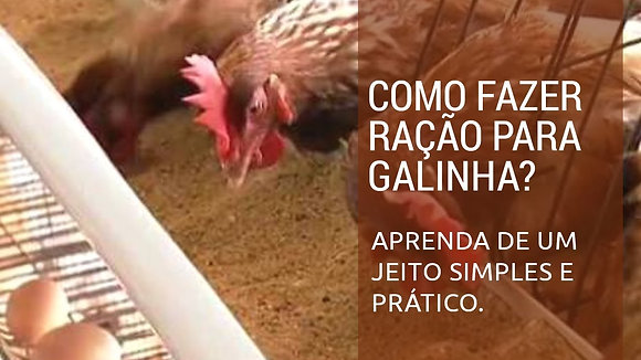 Fórmula de ração para frangos de corte colonial
