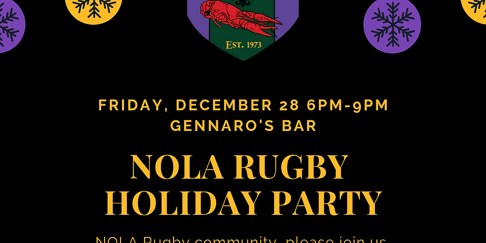 NOLA Rugby Holiday Party
