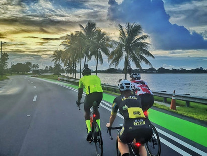 The views and scenery of cycling