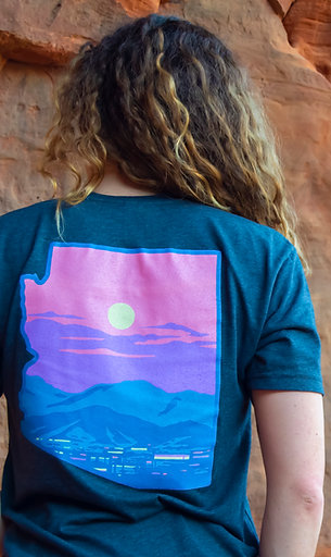 Charcoal Short Sleeve Phoenix Sunset